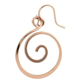 Mark Steel Koru Dangle Earring Rose Gold Filled