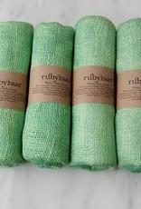 Rubyzaar Peridot Wabi Silk Ombre Dyed Handspun Handwoven Scarf
