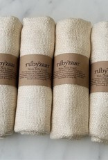 Rubyzaar Cream Wabi Silk Ombre Dyed Handspun Handwoven Scarf