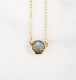 Andrea Justine Stratton Labradorite Gemstone 22kt Gold Plated Necklace