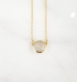 Andrea Justine Stratton Moonstone Gemstone 22kt Gold Plated Necklace