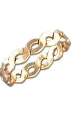 Mark Steel Flat Braid Ring - 4mm Gold Filled
