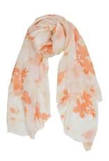 AE Scarves Bonito - Silk/Cotton, Screen, Floral - Tangerine