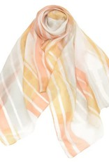 AE Scarves Freeform - 100% Silk, Handpainted stripes/color blocks - Orange Sherbert
