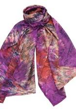 AE Scarves Herschel - 100% Silk scarf, tie-dye - wine