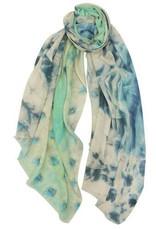 AE Scarves Shawnee - 65% cotton/35% modal, digital print, feathers design - gray/blue/mint
