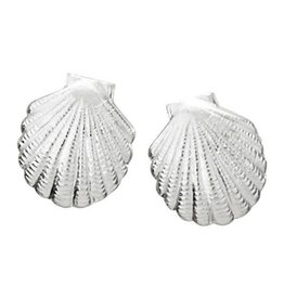Steven + Clea Scallop Shell Stud Earrings