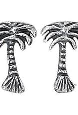 Steven + Clea Palm Tree Sterling Silver Stud Earrings