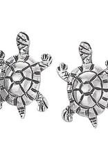 Steven + Clea Turtle Sterling Silver Stud Earrings