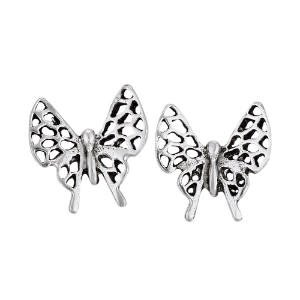 Steven + Clea Open Wing Butterfly Sterling Silver Stud Earrings