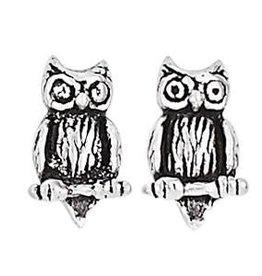 Steven + Clea Owl Stud Earring
