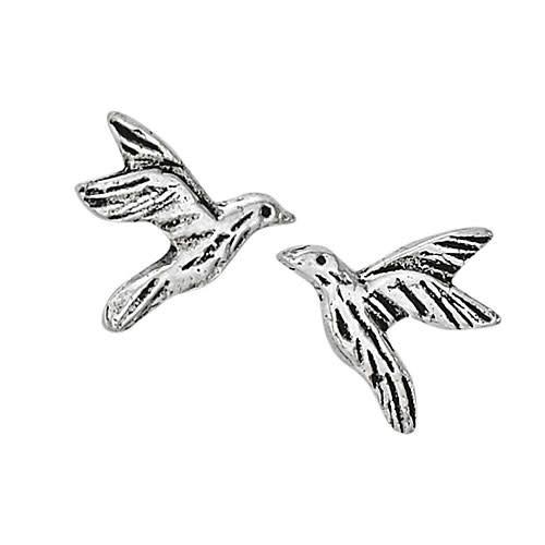 Steven + Clea Hummingbird in Flight Sterling Silver Stud Earrings