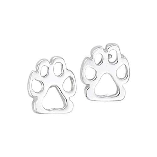 Steven + Clea Dog Paws Sterling Silver Stud Earrings