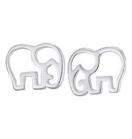 Steven + Clea Elephant Silhouette Stud Earrings