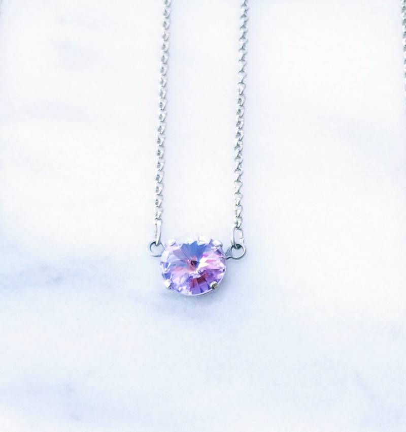 blue lucy en rhodium round necklace web product jewelry shop online cn plating swarovski