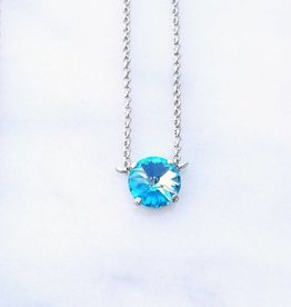 Atlantis Berlin Aqua Swarovski Pendant Necklace