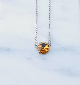 Atlantis Berlin Gold Topaz Swarovski Pendant Necklace