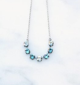 Atlantis Berlin Swarovski Snake Necklace Light Blue