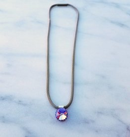 Atlantis Berlin Violet Swarovski Mesh Magnet Necklace