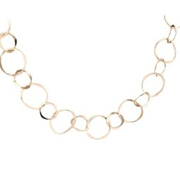 "Mark Steel Gold Filled Staggered Link 18"" Necklace 51"