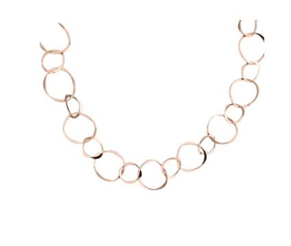 Rose Gold Filled Staggered Link 18 Necklace 51 Esmeralda