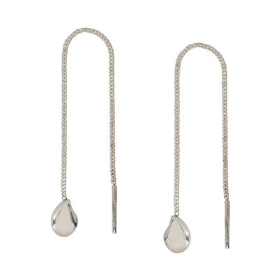 Far Fetched Pure Chain Earrings Sterling Silver