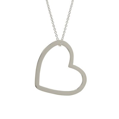Far Fetched Devoted necklace sterling silver 18 inch chain