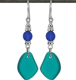 Austin Cake Sun Glass Earrings Aquamarine Blue