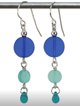 Austin Cake Earrings Sun Stone Pacific Blues