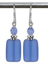 Austin Cake Earrings Geo Ocean Blue