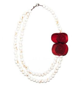 Angela Sanchez Natural Red Yopal Necklace