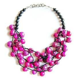 Angela Sanchez Mompox Baloncillo Seed Necklace Pink