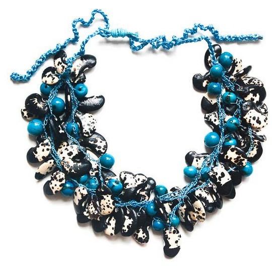 Angela Sanchez Turquoise Cali Kidney Bean Necklace