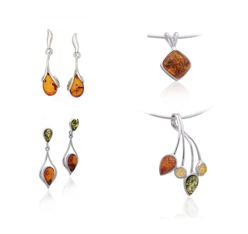 NEW ARRIVALS: Artisan Hancrafted Baltic Amber in Sterling Silver Made in Poland