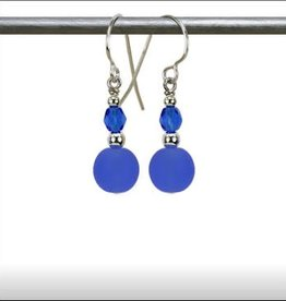 Austin Cake Ear Bob Earrings Ocean Blue