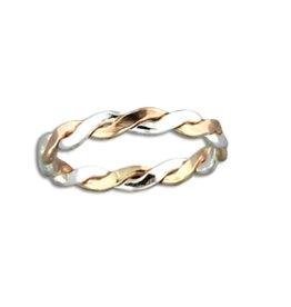 Mark Steel Braid Ring - 2.8mm Mix Metals