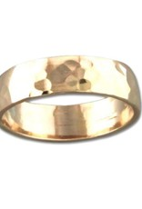 Mark Steel Low Dome Hammered Band Gold Filled