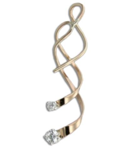 Mark Steel Earring Gold Filled d110