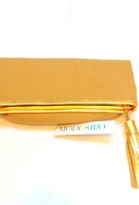 Modusrio Modusrio Dark Linen Gold Clutch