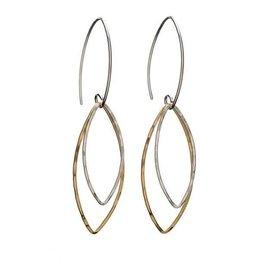 Kenda Kist Kenda Kist Double Marquis Two-Tone Earrings
