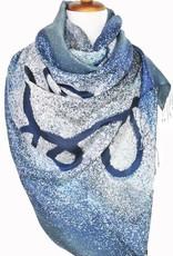 PR Thai Silk Art Blue Ribbon