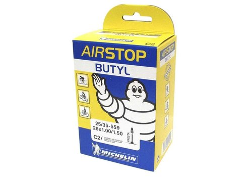 Michelin, Airstop Butyl, Tube, Presta, 52mm, 700x18-23C