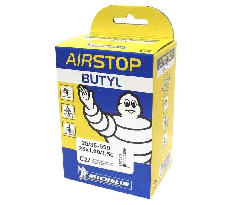 Michelin, Airstop Butyl, Tube, Presta, 52mm, 700x18-23C