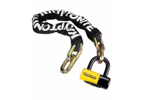 Kryptonite Kryptonite New York Fahgettaboudit Chain 1410 and Disc Lock: 3.25' (100cm)