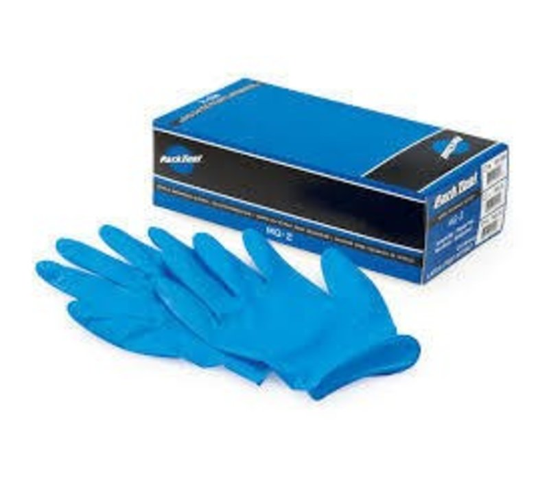 Park Tool, MG-2, Nitrile mechanics gloves, Box of 100, L