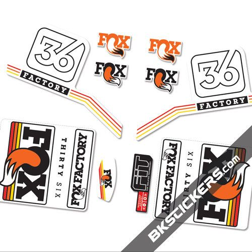 FOX RACING SHOX 2016 FOX FACTORY DECAL KIT