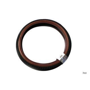 """1664 Fit FAF 20"""" Tire - Wire - 2.25"""" - Red"""