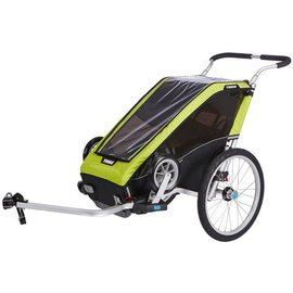 THULE Chariot Cheetah XT 1 + Cycle/Stroll Chartreuse