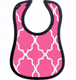 mini maniacs Mini Maniacs Pink Lattice Bib