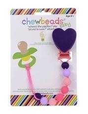 chewbeads Chewbeads Heart Paci Clip